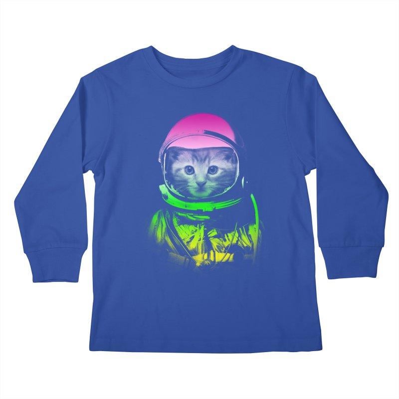 astronaut cat  Kids Longsleeve T-Shirt by jun21's Artist Shop