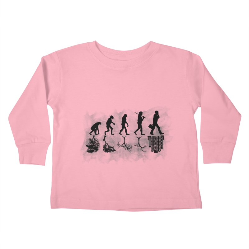 evolution  Kids Toddler Longsleeve T-Shirt by jun21's Artist Shop