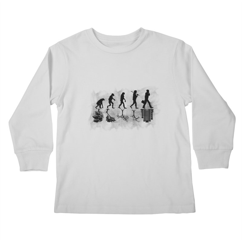 evolution  Kids Longsleeve T-Shirt by jun21's Artist Shop