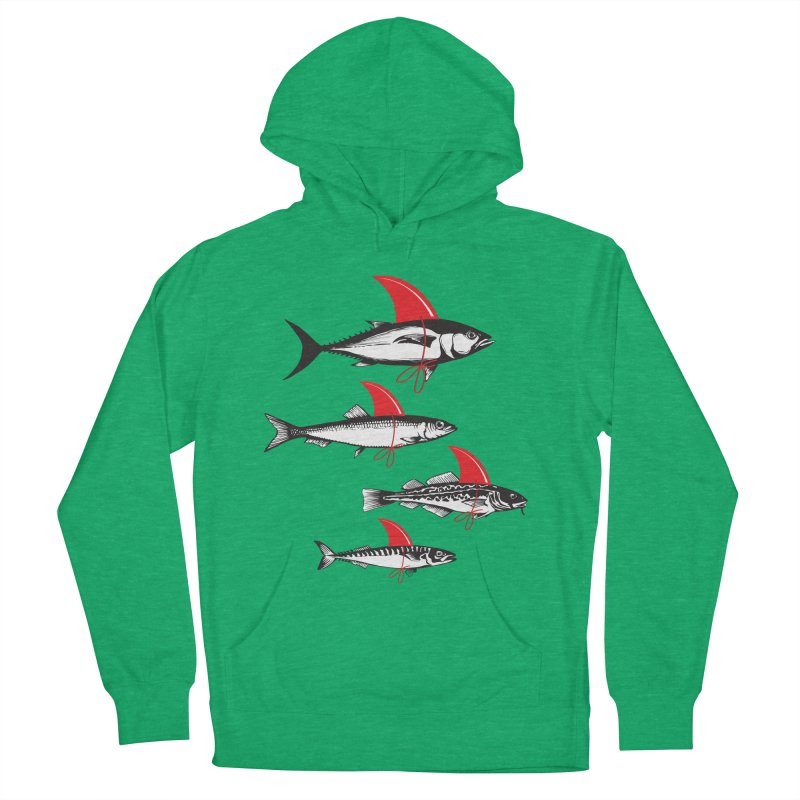 fish attack  Women's Pullover Hoody by jun21's Artist Shop