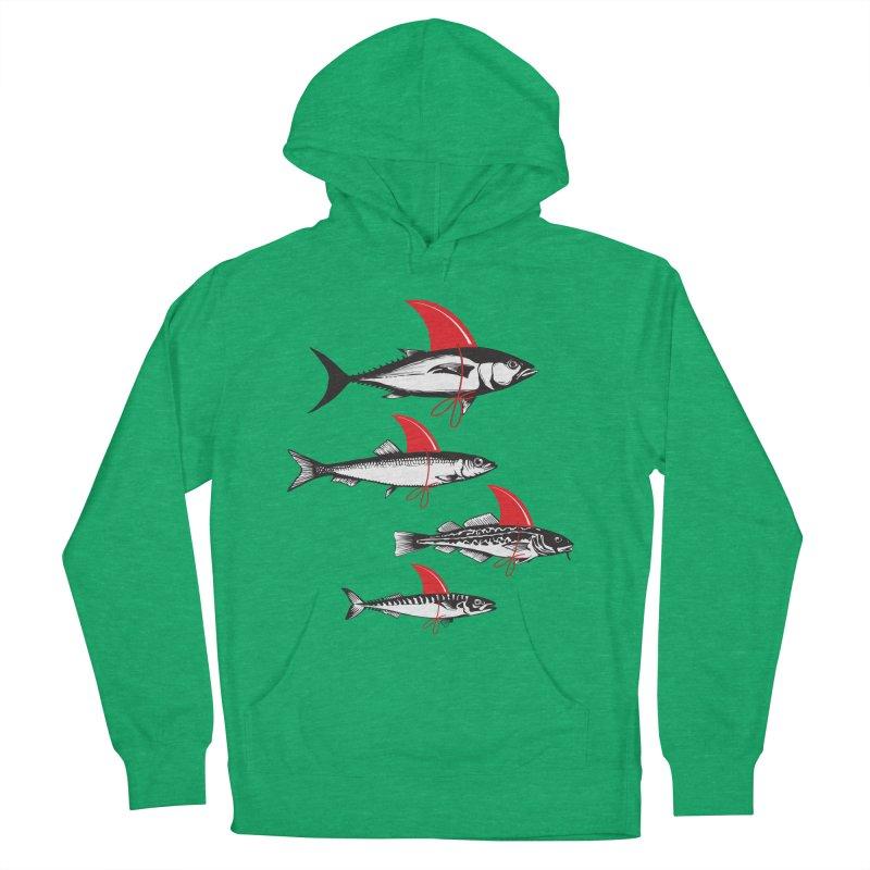 fish attack  Men's Pullover Hoody by jun21's Artist Shop
