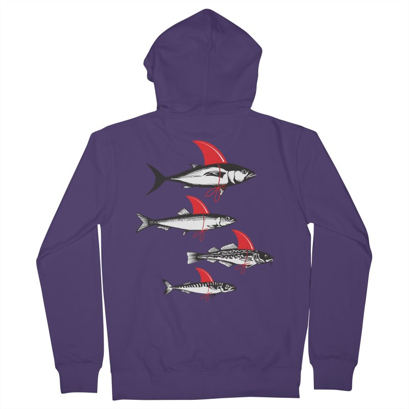 fish attack  Women's Zip-Up Hoody by jun21's Artist Shop