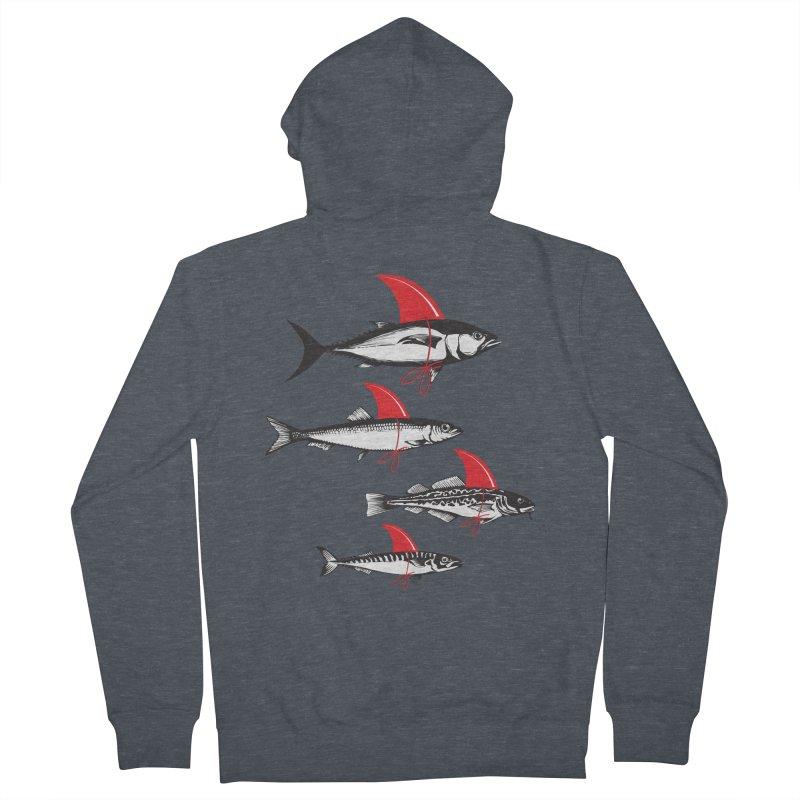fish attack  Men's Zip-Up Hoody by jun21's Artist Shop