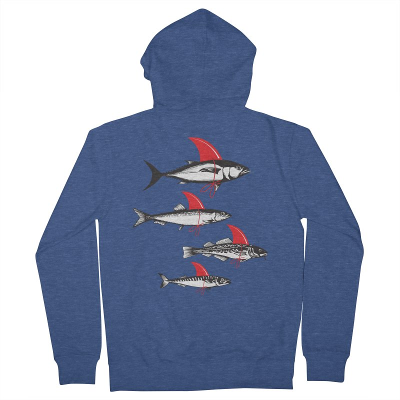 fish attack  Men's Zip-Up Hoody by jun21's Artist Shop