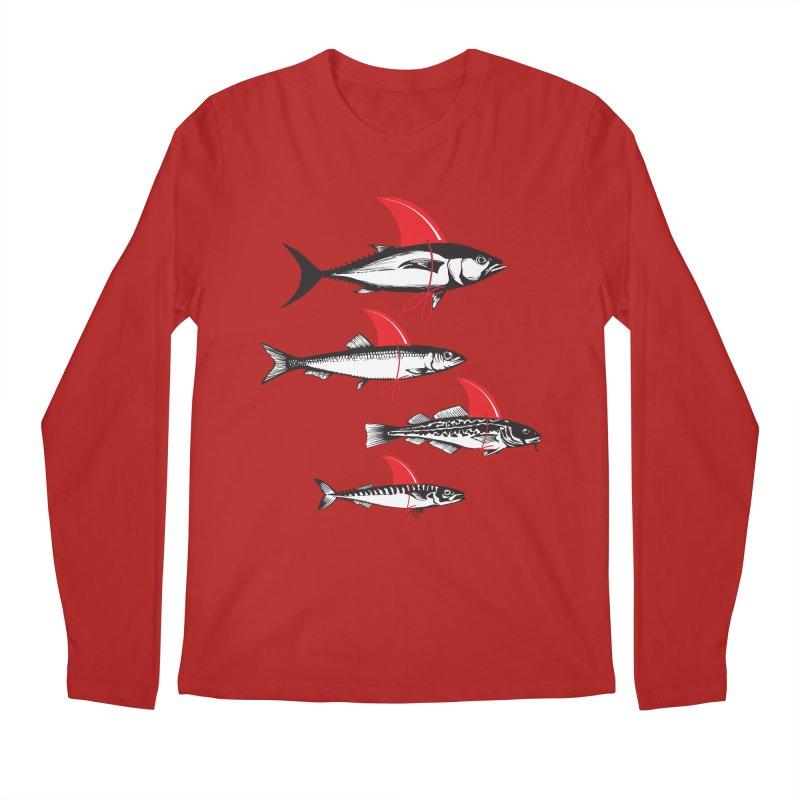 fish attack  Men's Longsleeve T-Shirt by jun21's Artist Shop