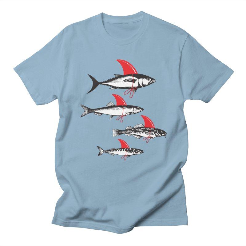 fish attack  Men's T-shirt by jun21's Artist Shop