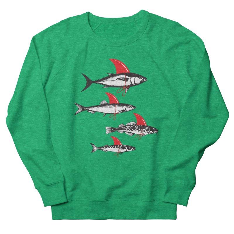 fish attack  Men's Sweatshirt by jun21's Artist Shop
