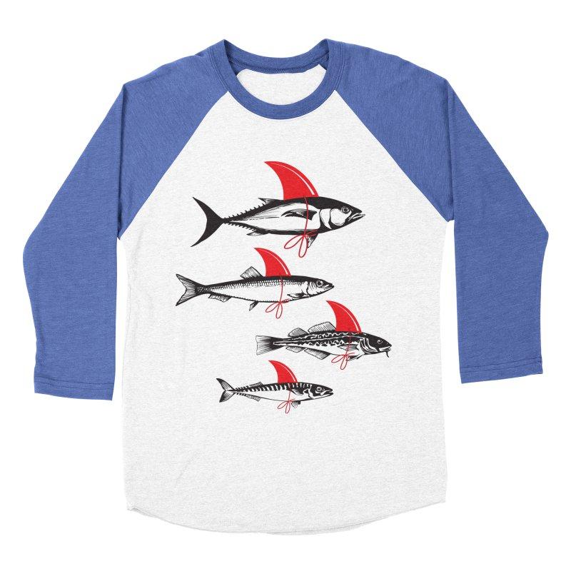 fish attack  Women's Baseball Triblend T-Shirt by jun21's Artist Shop