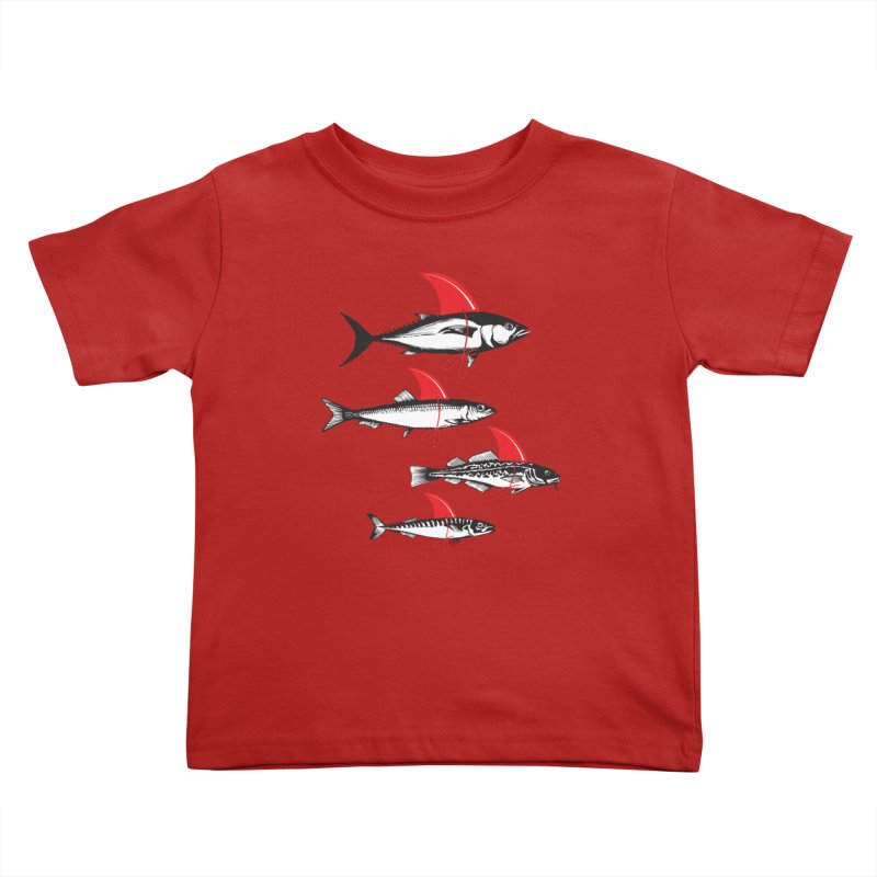 fish attack  Kids Toddler T-Shirt by jun21's Artist Shop