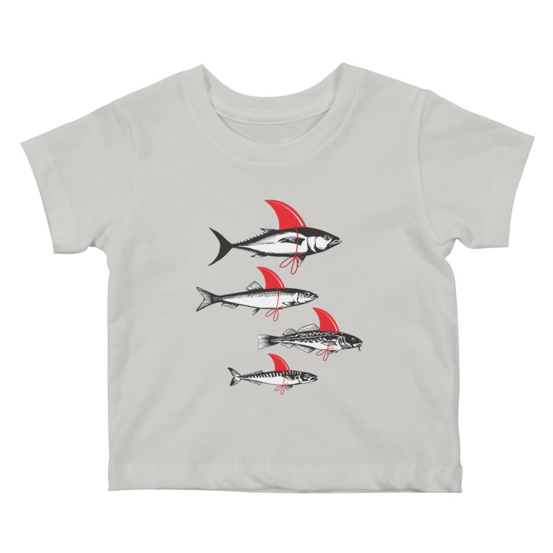 fish attack  Kids Baby T-Shirt by jun21's Artist Shop