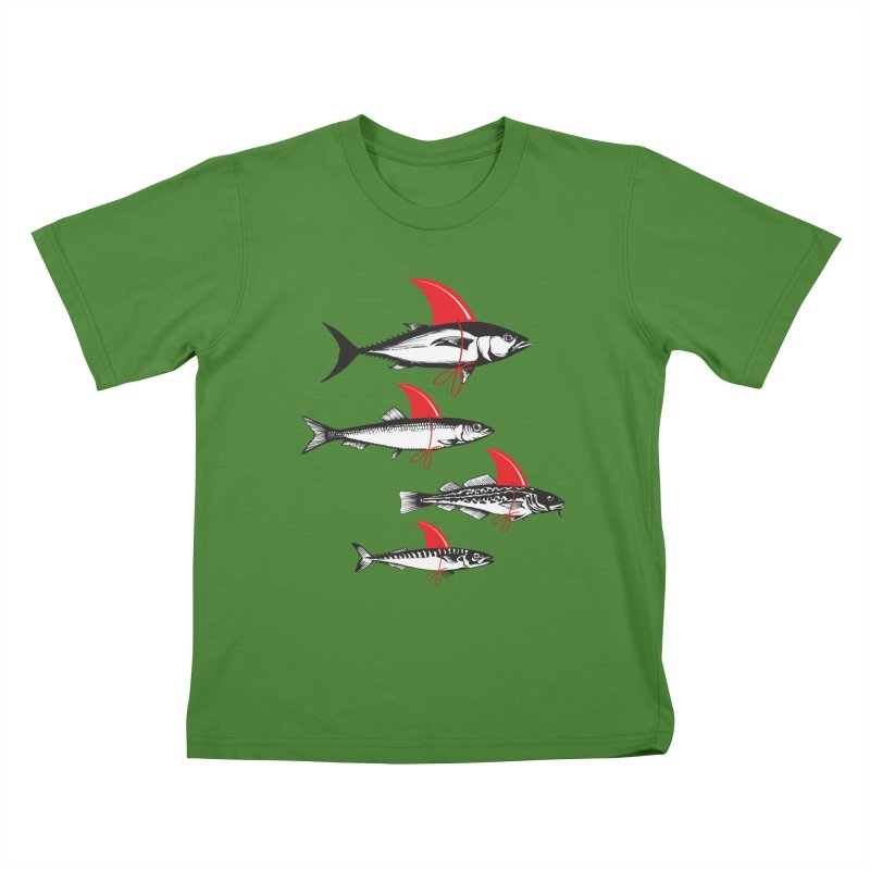 fish attack  Kids T-shirt by jun21's Artist Shop