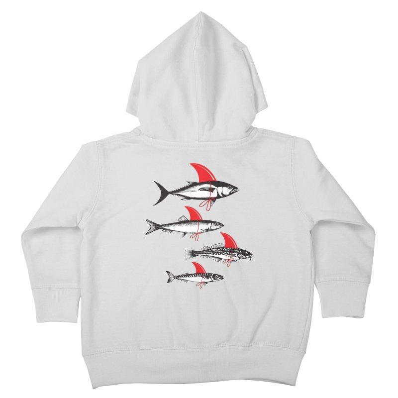 fish attack  Kids Toddler Zip-Up Hoody by jun21's Artist Shop