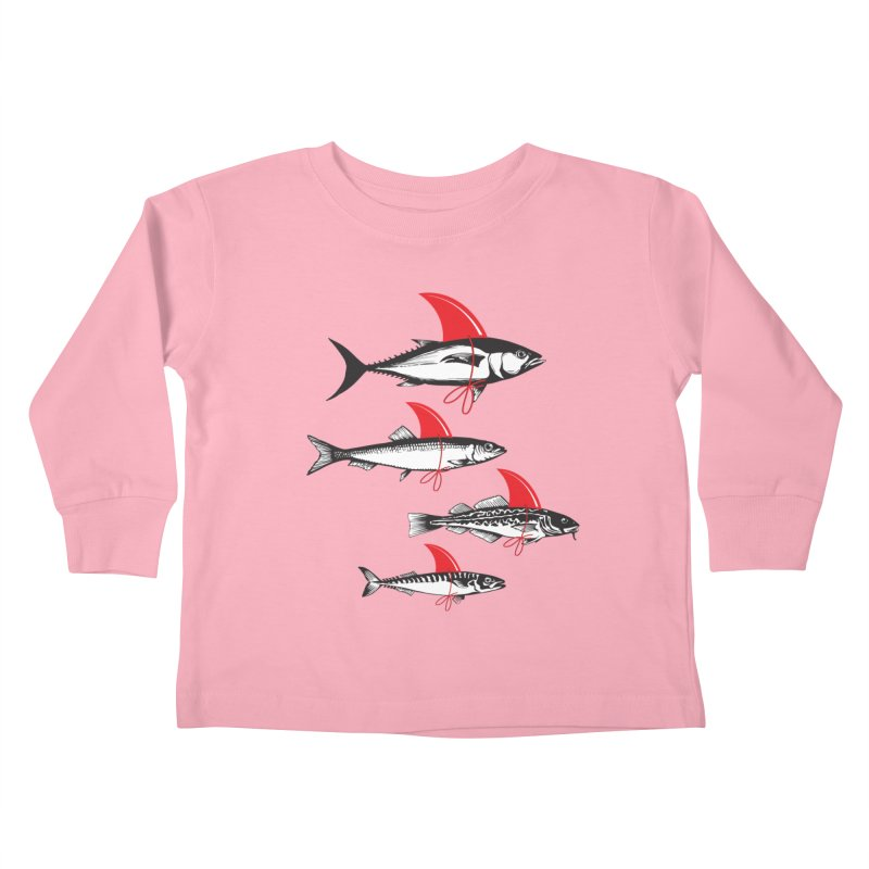 fish attack  Kids Toddler Longsleeve T-Shirt by jun21's Artist Shop