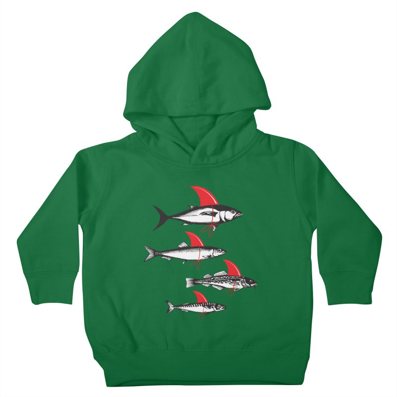 fish attack  Kids Toddler Pullover Hoody by jun21's Artist Shop