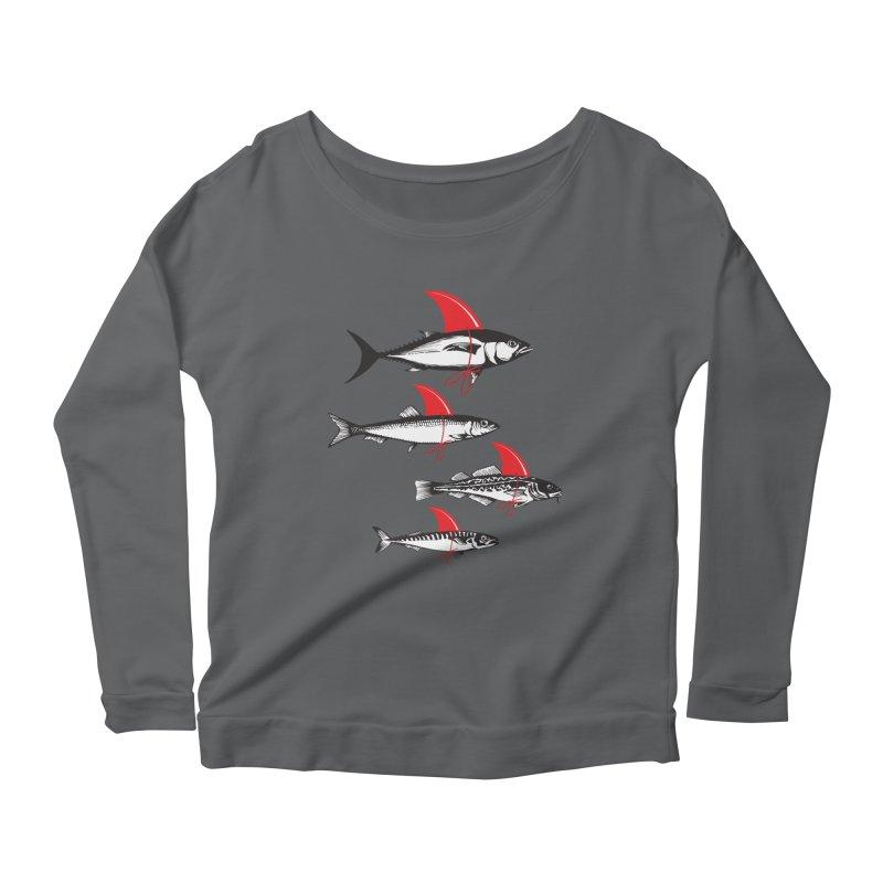fish attack  Women's Longsleeve Scoopneck  by jun21's Artist Shop