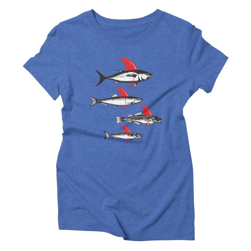 fish attack  Women's Triblend T-Shirt by jun21's Artist Shop