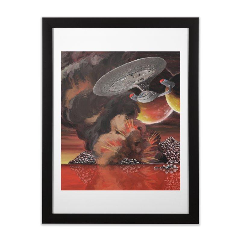 The Enterprise over Skull Mountain Lake Home Framed Fine Art Print by Jungle Girl Designs