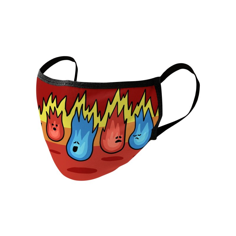 Flame Friends Accessories Face Mask by Jungle Girl Designs