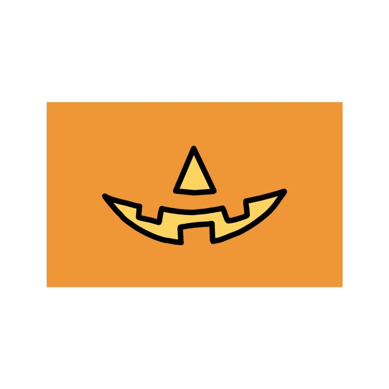 Happy Pumpkin Face Accessories Face Mask by Jungle Girl Designs