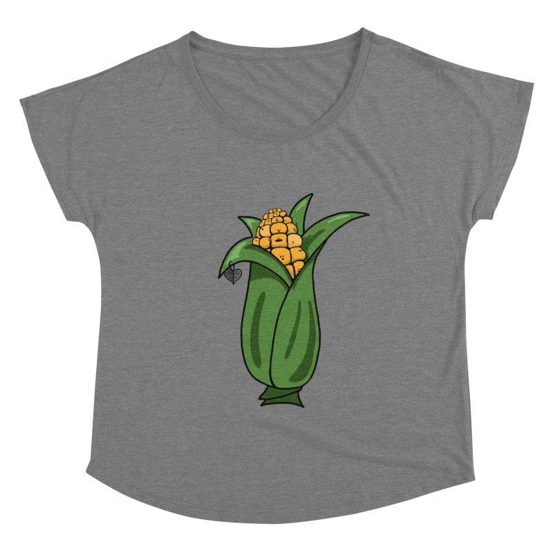 Growing up Corny Women's Scoop Neck by Jungle Girl Designs