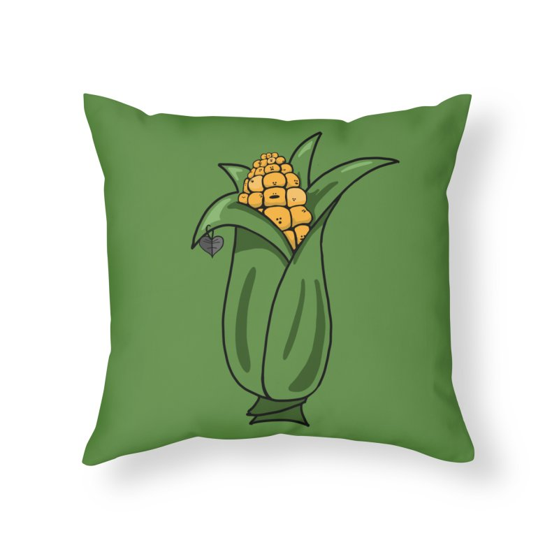 Growing up Corny Home Throw Pillow by Jungle Girl Designs
