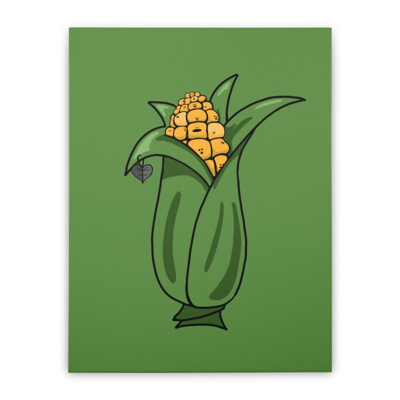 Growing up Corny Home Stretched Canvas by Jungle Girl Designs