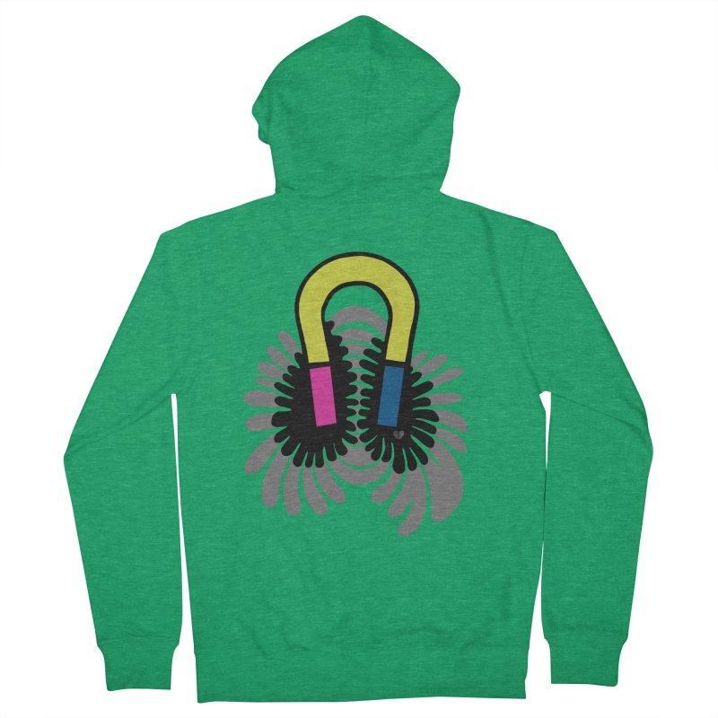 Magnet Men's Zip-Up Hoody by Jungle Girl Designs