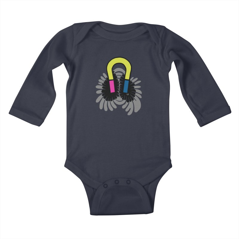 Magnet Kids Baby Longsleeve Bodysuit by Jungle Girl Designs