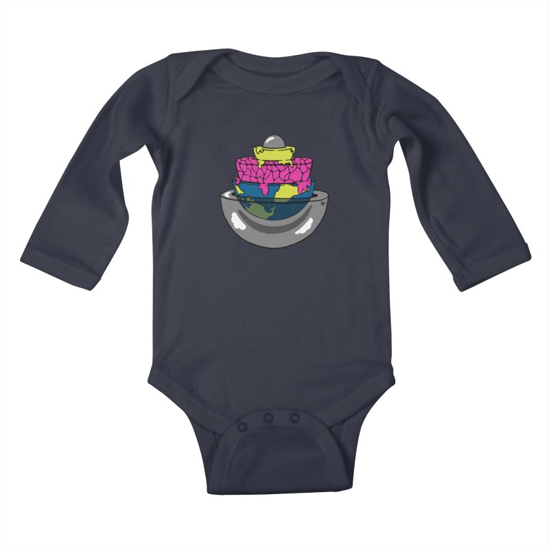 Layers of the Earth Kids Baby Longsleeve Bodysuit by Jungle Girl Designs