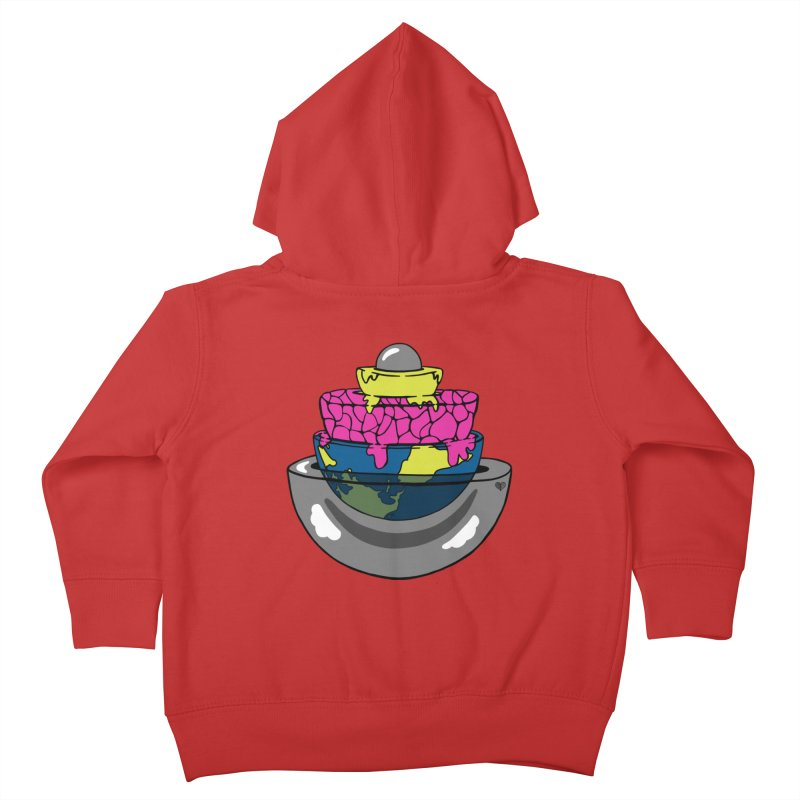 Layers of the Earth Kids Toddler Zip-Up Hoody by Jungle Girl Designs