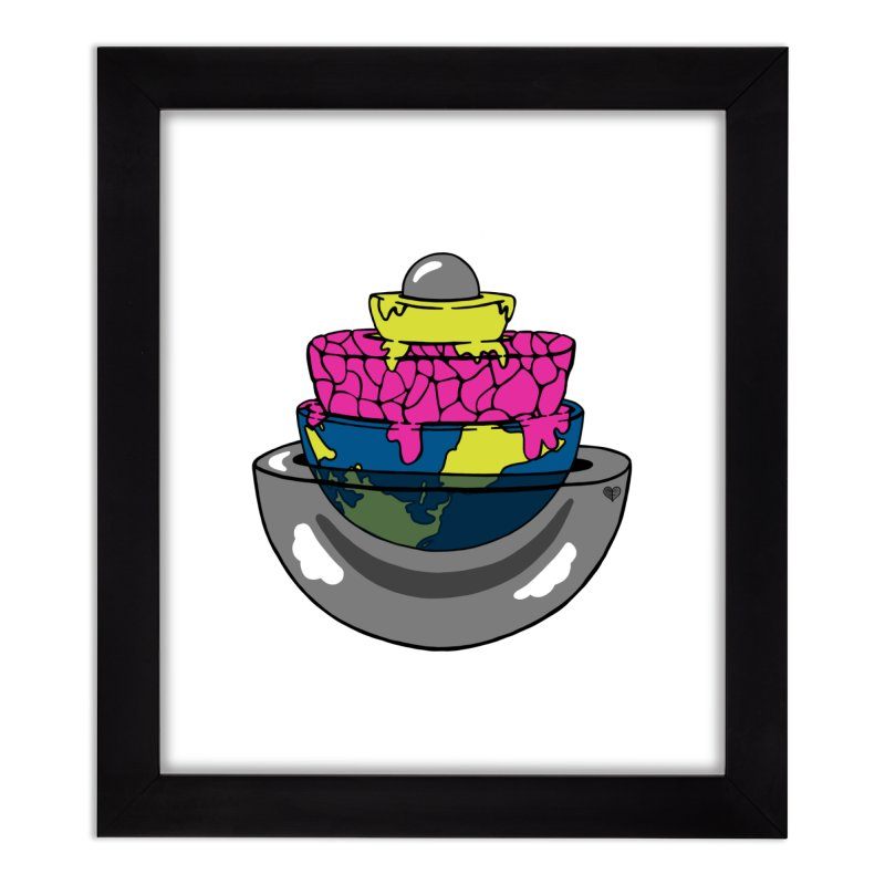Layers of the Earth Home Framed Fine Art Print by Jungle Girl Designs