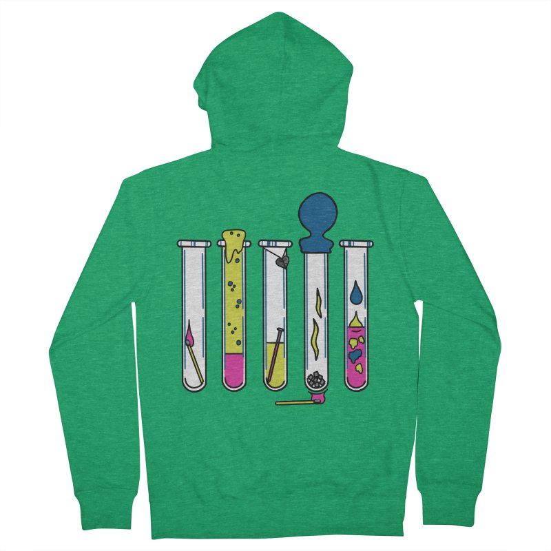 Chemical Reactions Men's Zip-Up Hoody by Jungle Girl Designs