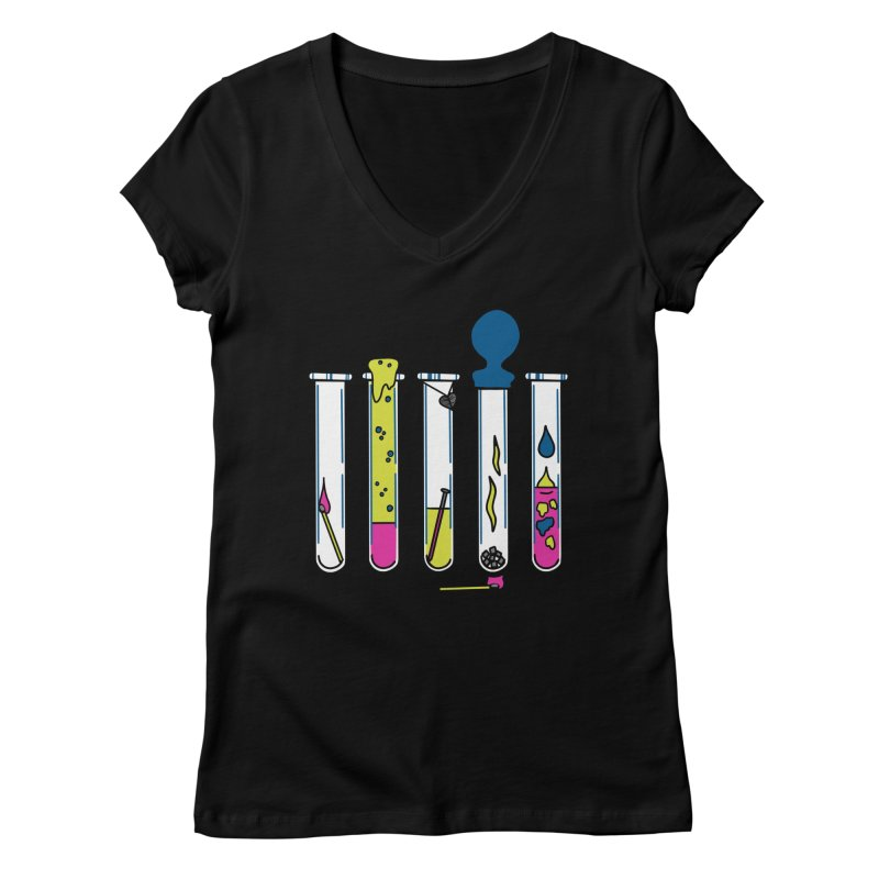 Chemical Reactions Women's V-Neck by Jungle Girl Designs
