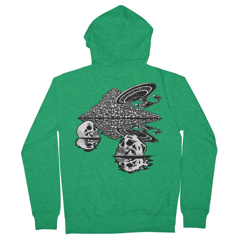 The Best of Both Worlds Men's Zip-Up Hoody by Jungle Girl Designs