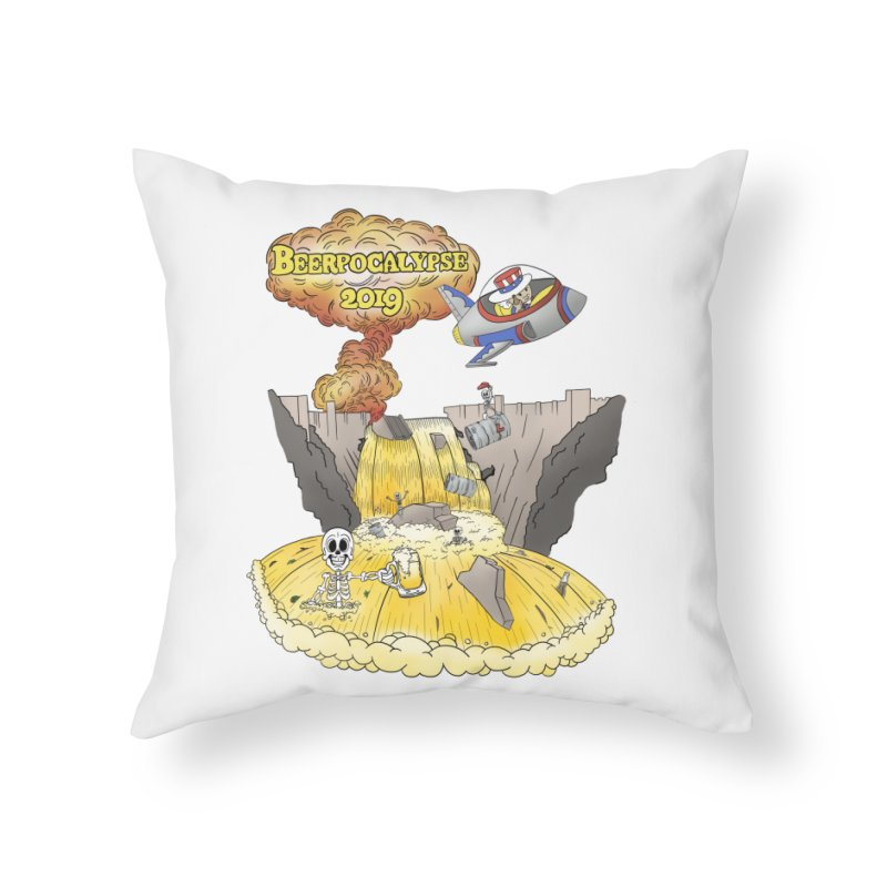 Beerpocalypse 2019 Home Throw Pillow by Jungle Girl Designs