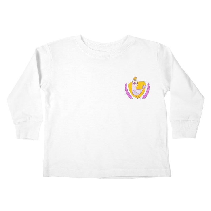 Pigeon King Kids Toddler Longsleeve T-Shirt by Junior Arce's Shop