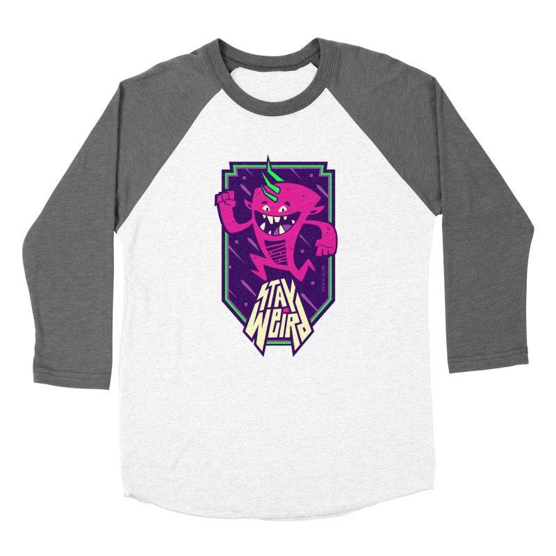 Weird Women's Baseball Triblend Longsleeve T-Shirt by Junior Arce's Shop