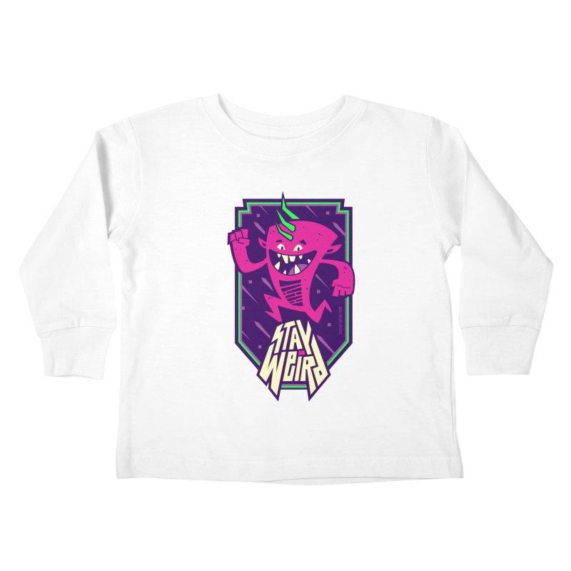 Weird Kids Toddler Longsleeve T-Shirt by Junior Arce's Shop