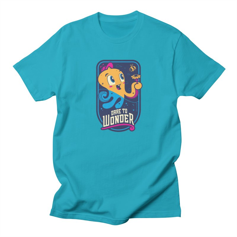 Wonder in Men's Regular T-Shirt Cyan by Junior Arce's Shop