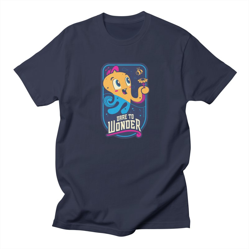 Wonder in Men's Regular T-Shirt Navy by Junior Arce's Shop