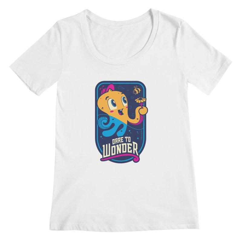 Wonder Women's Regular Scoop Neck by Junior Arce's Shop