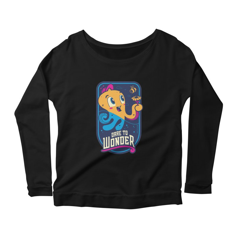 Wonder Women's Scoop Neck Longsleeve T-Shirt by Junior Arce's Shop