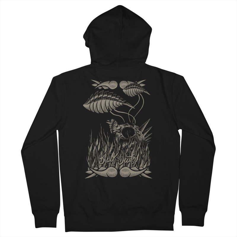 Black Death Men's Zip-Up Hoody by junkart's Artist Shop