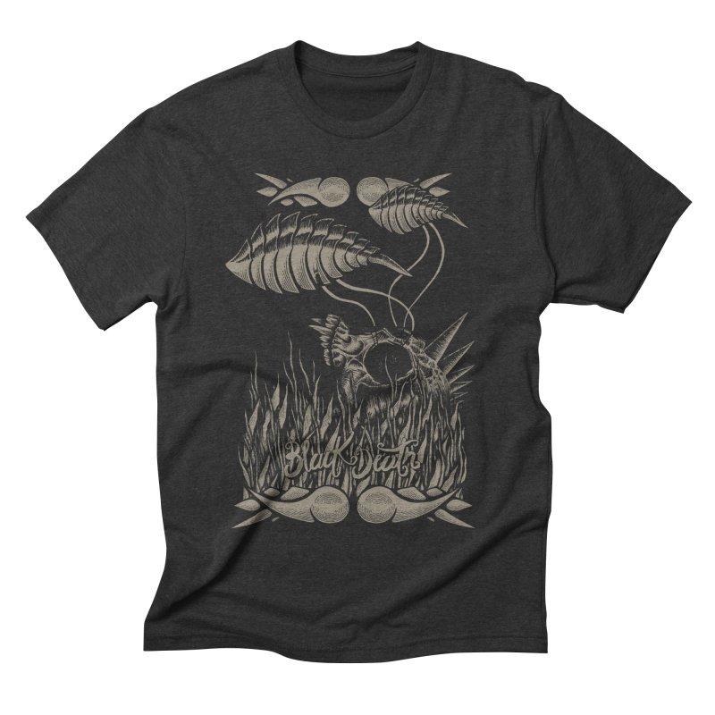 Black Death Men's Triblend T-shirt by junkart's Artist Shop