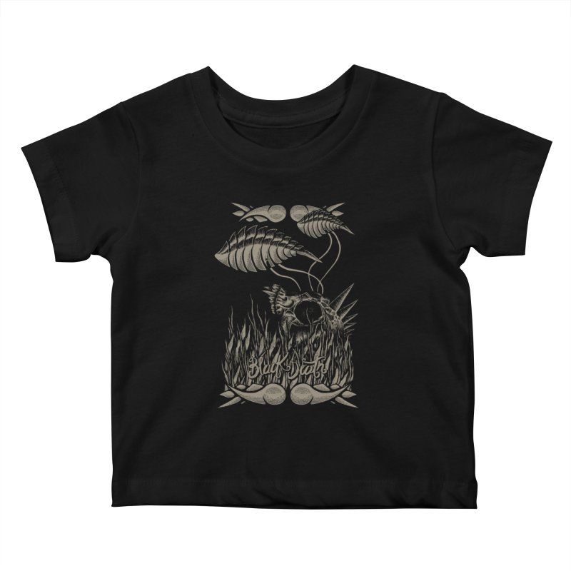Black Death Kids Baby T-Shirt by junkart's Artist Shop