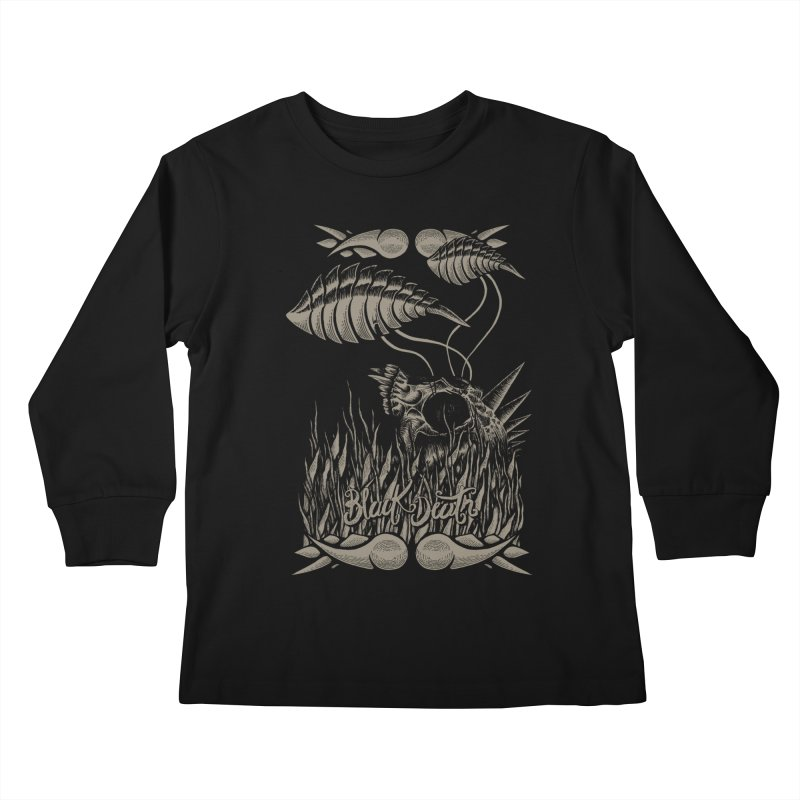 Black Death Kids Longsleeve T-Shirt by junkart's Artist Shop