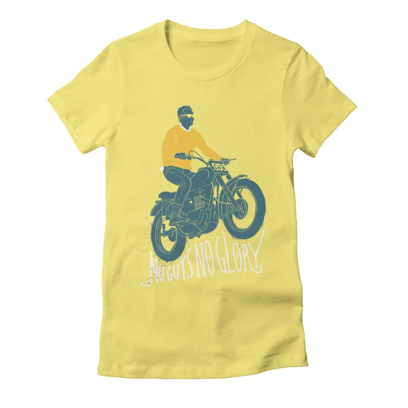 no guts, no glory Women's Fitted T-Shirt by junkers's Shop
