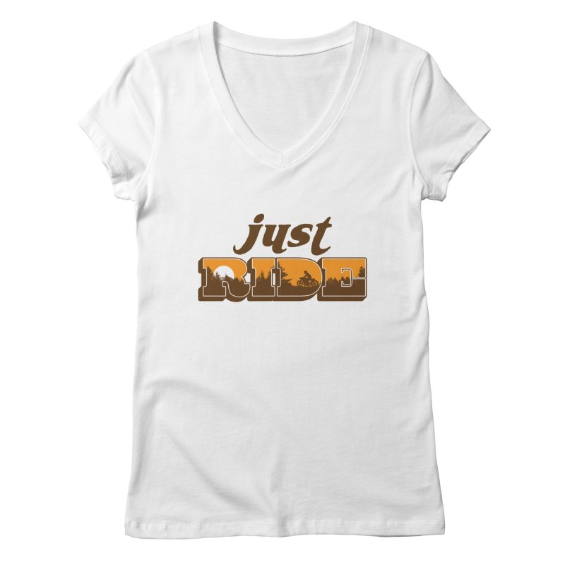 just ride Women's V-Neck by junkers's Shop