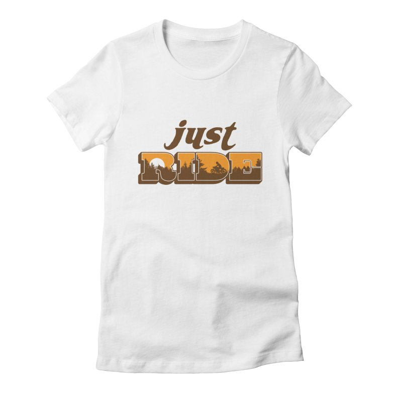 just ride Women's Fitted T-Shirt by junkers's Shop