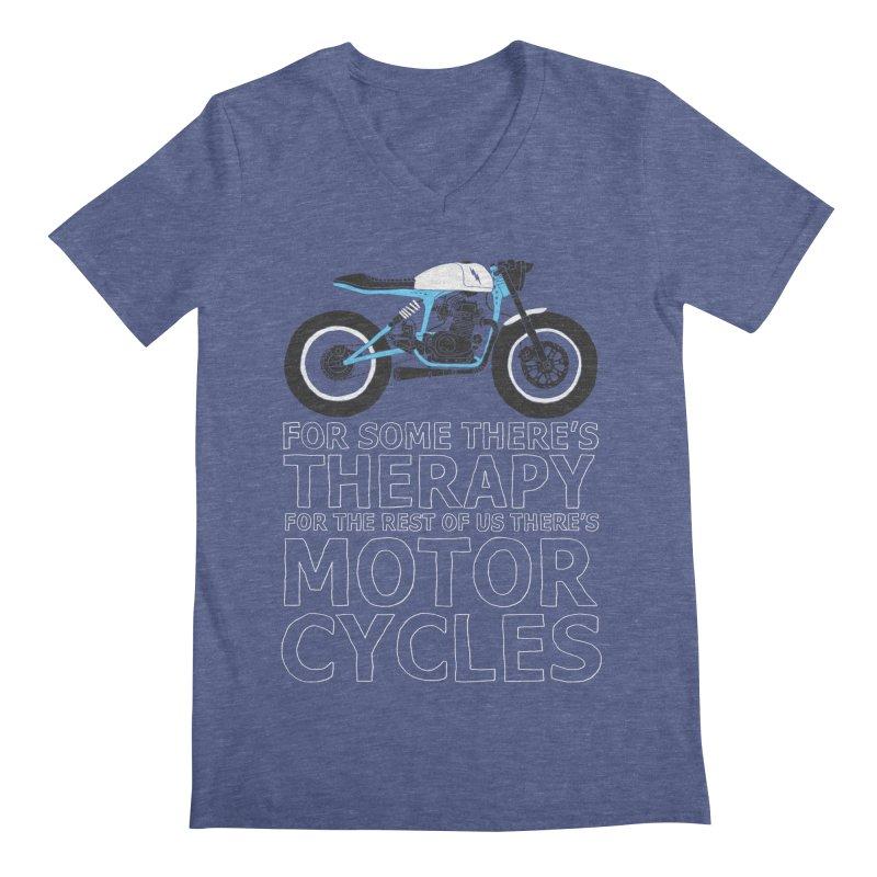 motorcycles Men's V-Neck by junkers's Shop